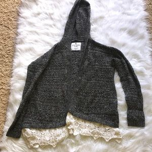 Grey Hooded Cardigan